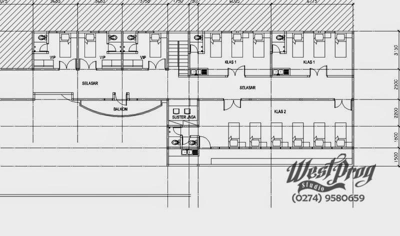 Detail layout lantai dua.