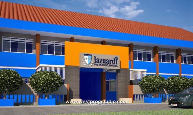 Desain sekolah Lazuardi di Klaten